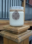 Clear Vintage Hobnail Jar Candle