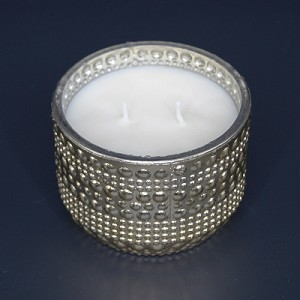 Gold Hobnail Candle