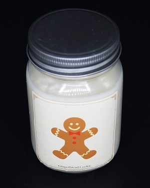 Gingerbread Cookie - Christmas Collection Mason Jar Candle