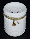 Balsam Fir - Christmas Collection White Vintage Hobnail Jar Candle