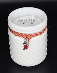 Peppermint Lane - Christmas Collection White Vintage Hobnail Jar Candle